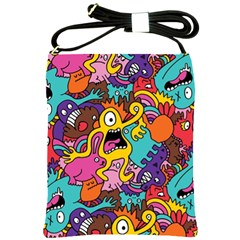 Monster Patterns Shoulder Sling Bags by BangZart