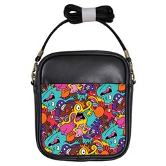 Monster Patterns Girls Sling Bags by BangZart