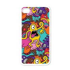 Monster Patterns Apple Iphone 4 Case (white) by BangZart