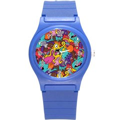 Monster Patterns Round Plastic Sport Watch (s) by BangZart