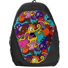 Monster Patterns Backpack Bag by BangZart