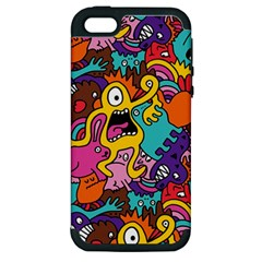 Monster Patterns Apple Iphone 5 Hardshell Case (pc+silicone)