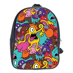 Monster Patterns School Bags (xl)  by BangZart