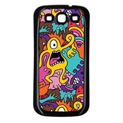 Monster Patterns Samsung Galaxy S3 Back Case (black) by BangZart
