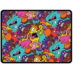 Monster Patterns Double Sided Fleece Blanket (large)  by BangZart
