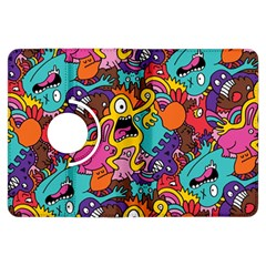 Monster Patterns Kindle Fire Hdx Flip 360 Case by BangZart