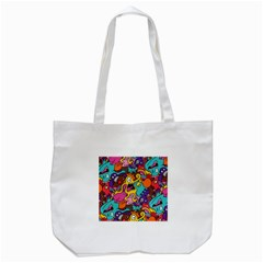 Monster Patterns Tote Bag (white) by BangZart