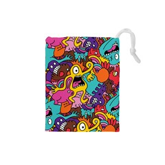 Monster Patterns Drawstring Pouches (small)  by BangZart