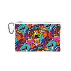 Monster Patterns Canvas Cosmetic Bag (s) by BangZart