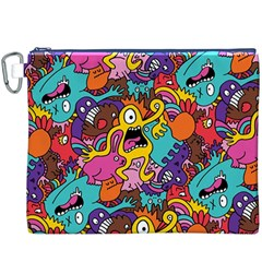 Monster Patterns Canvas Cosmetic Bag (xxxl) by BangZart