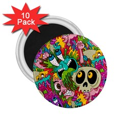 Crazy Illustrations & Funky Monster Pattern 2 25  Magnets (10 Pack)  by BangZart