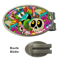 Crazy Illustrations & Funky Monster Pattern Money Clips (oval)  by BangZart