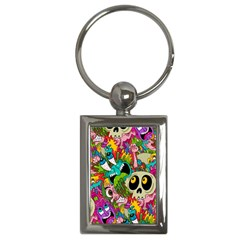 Crazy Illustrations & Funky Monster Pattern Key Chains (rectangle)  by BangZart