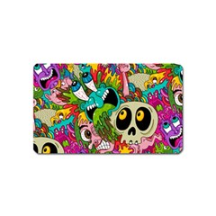 Crazy Illustrations & Funky Monster Pattern Magnet (name Card) by BangZart