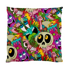 Crazy Illustrations & Funky Monster Pattern Standard Cushion Case (one Side) by BangZart