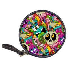 Crazy Illustrations & Funky Monster Pattern Classic 20 Cd Wallets