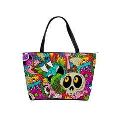 Crazy Illustrations & Funky Monster Pattern Shoulder Handbags by BangZart