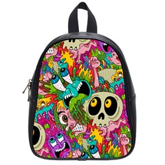 Crazy Illustrations & Funky Monster Pattern School Bags (small)  by BangZart