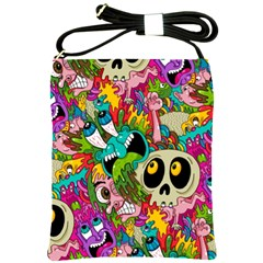 Crazy Illustrations & Funky Monster Pattern Shoulder Sling Bags by BangZart