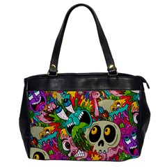 Crazy Illustrations & Funky Monster Pattern Office Handbags by BangZart