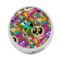 Crazy Illustrations & Funky Monster Pattern 4 Port Usb Hub (one Side) by BangZart