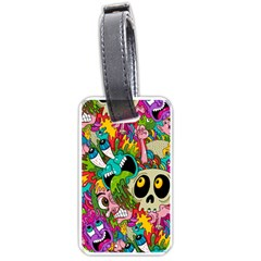 Crazy Illustrations & Funky Monster Pattern Luggage Tags (one Side)  by BangZart