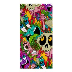 Crazy Illustrations & Funky Monster Pattern Shower Curtain 36  X 72  (stall)  by BangZart