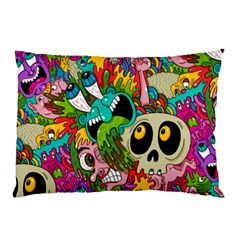 Crazy Illustrations & Funky Monster Pattern Pillow Case (two Sides) by BangZart