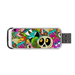 Crazy Illustrations & Funky Monster Pattern Portable Usb Flash (one Side) by BangZart