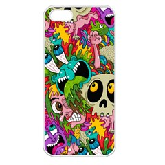 Crazy Illustrations & Funky Monster Pattern Apple Iphone 5 Seamless Case (white) by BangZart