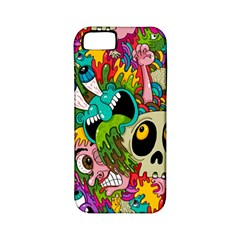 Crazy Illustrations & Funky Monster Pattern Apple Iphone 5 Classic Hardshell Case (pc+silicone) by BangZart