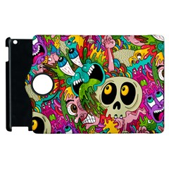 Crazy Illustrations & Funky Monster Pattern Apple Ipad 2 Flip 360 Case by BangZart
