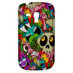 Crazy Illustrations & Funky Monster Pattern Galaxy S3 Mini by BangZart