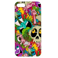 Crazy Illustrations & Funky Monster Pattern Apple Iphone 5 Hardshell Case With Stand by BangZart