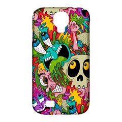 Crazy Illustrations & Funky Monster Pattern Samsung Galaxy S4 Classic Hardshell Case (pc+silicone)
