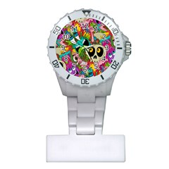 Crazy Illustrations & Funky Monster Pattern Plastic Nurses Watch by BangZart