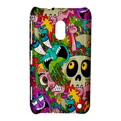 Crazy Illustrations & Funky Monster Pattern Nokia Lumia 620 by BangZart