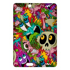 Crazy Illustrations & Funky Monster Pattern Amazon Kindle Fire Hd (2013) Hardshell Case by BangZart
