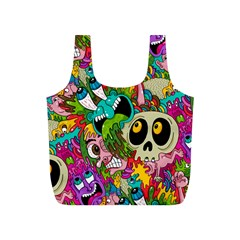 Crazy Illustrations & Funky Monster Pattern Full Print Recycle Bags (s)  by BangZart
