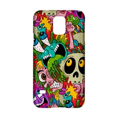Crazy Illustrations & Funky Monster Pattern Samsung Galaxy S5 Hardshell Case