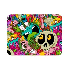 Crazy Illustrations & Funky Monster Pattern Double Sided Flano Blanket (mini)  by BangZart