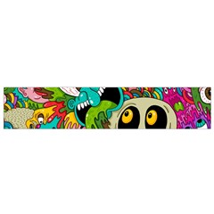 Crazy Illustrations & Funky Monster Pattern Flano Scarf (small) by BangZart