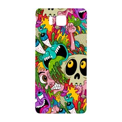 Crazy Illustrations & Funky Monster Pattern Samsung Galaxy Alpha Hardshell Back Case by BangZart