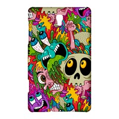 Crazy Illustrations & Funky Monster Pattern Samsung Galaxy Tab S (8 4 ) Hardshell Case