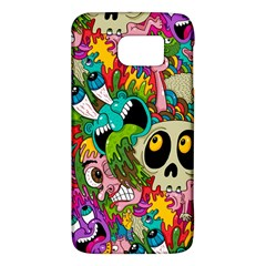 Crazy Illustrations & Funky Monster Pattern Galaxy S6 by BangZart