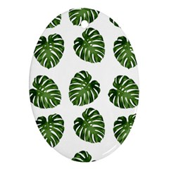 Leaf Pattern Seamless Background Ornament (oval) by BangZart
