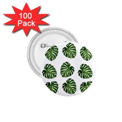 Leaf Pattern Seamless Background 1 75  Buttons (100 Pack)