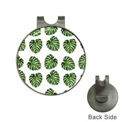 Leaf Pattern Seamless Background Hat Clips With Golf Markers by BangZart