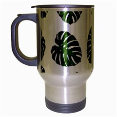 Leaf Pattern Seamless Background Travel Mug (silver Gray) by BangZart