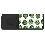 Leaf Pattern Seamless Background USB Flash Drive Rectangular (4 GB) Front